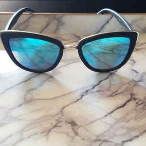 Quay my girl sunglasses with blue lenses